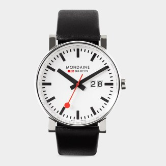 MOMA watch inspired by the Swiss Railway clock