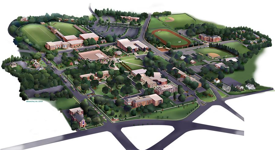 Lenoir Rhyne University Map