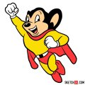 How to draw Mighty Mouse