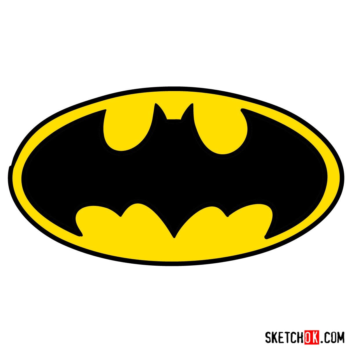 20 Tutorial How To Draw The Batman Sign Worksheets