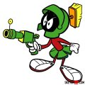 How to draw Marvin the Martian