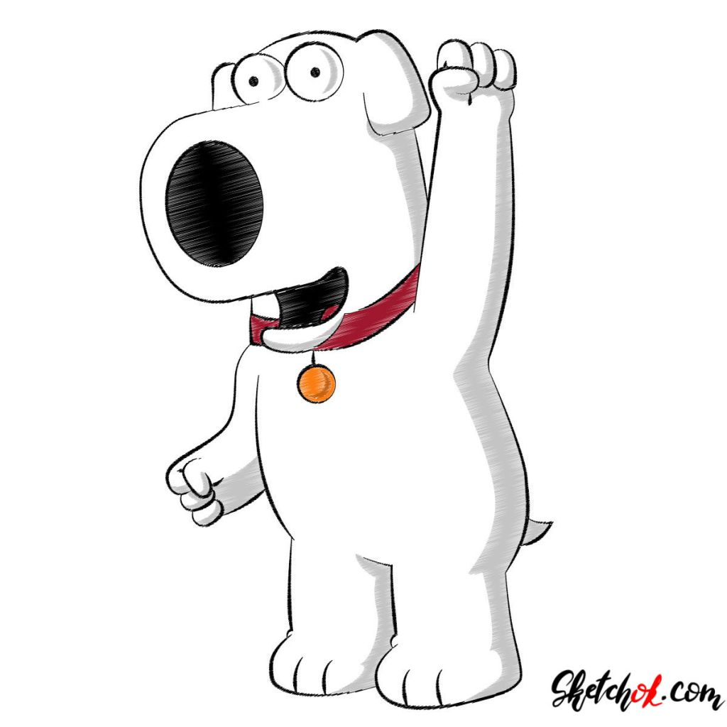 How to draw Brian Griffin