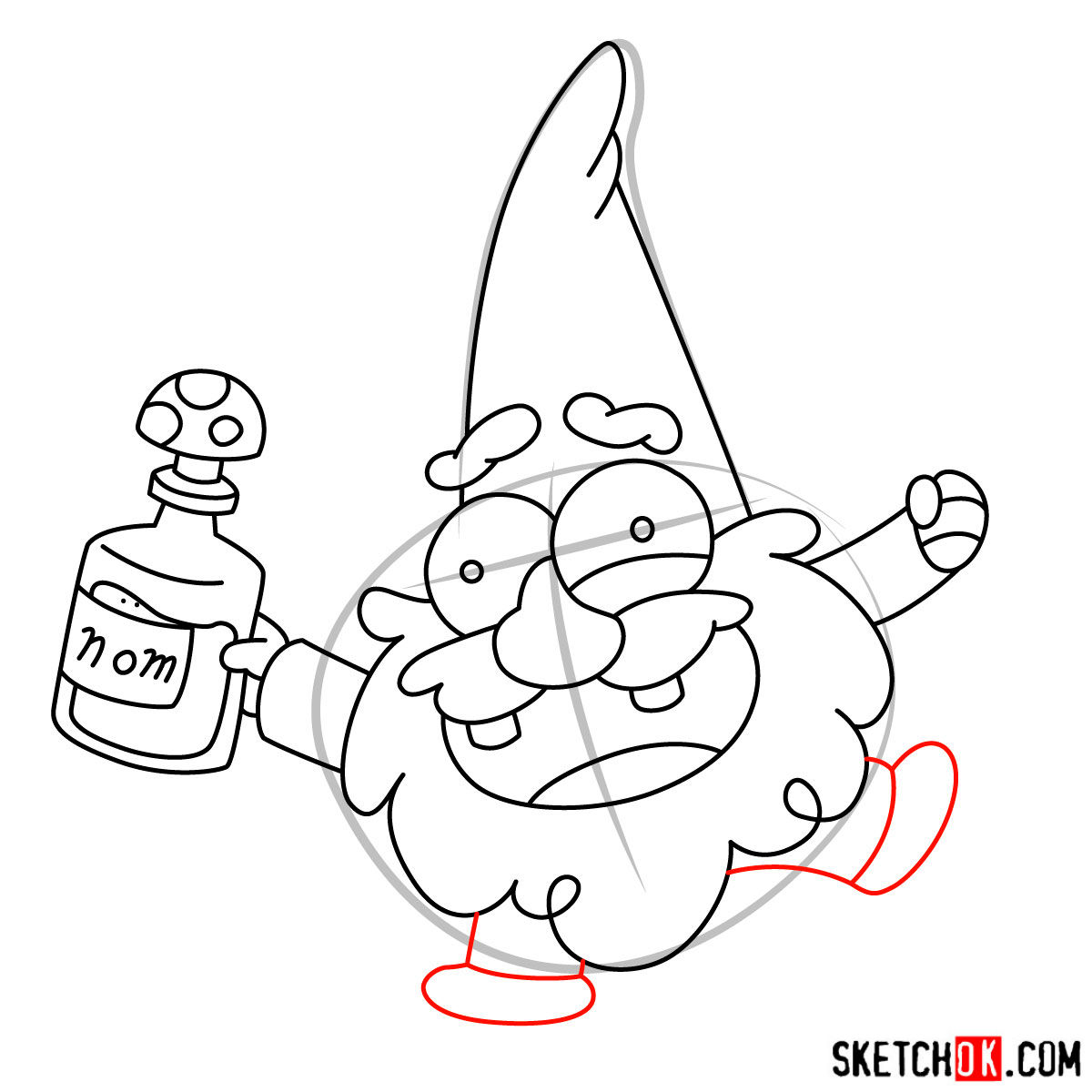 How To Draw Gnome From Gravity Falls