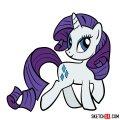 How to draw Rarity pony