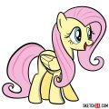 How to draw Fluttershy pegasus pony