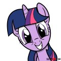 How to draw Twilight Sparkle face