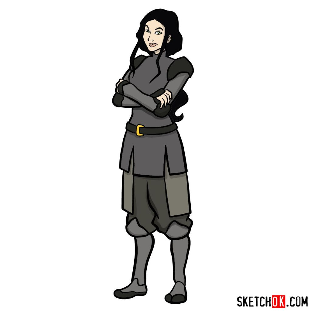 How to draw Lin Beifong