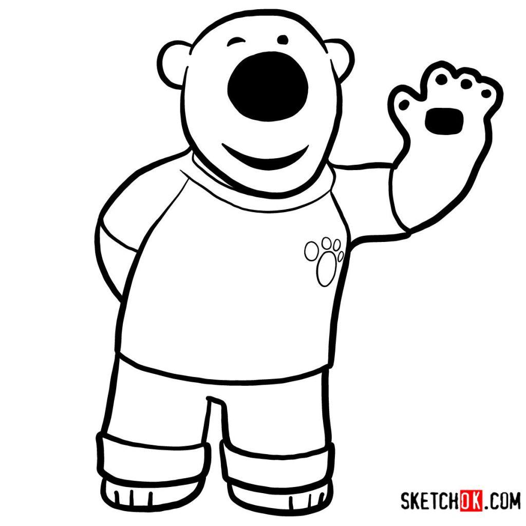 How to draw Poby the polar bear | Pororo