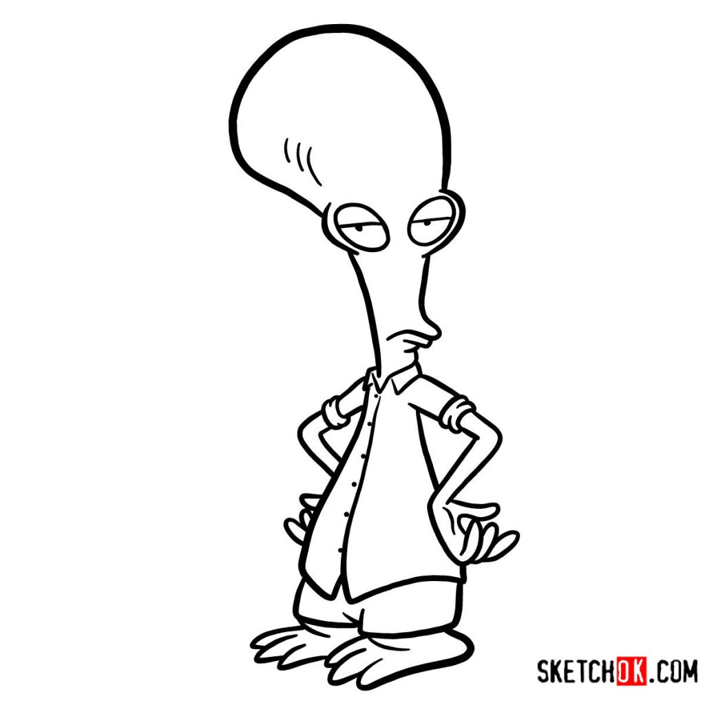 How to draw Roger   American Dad