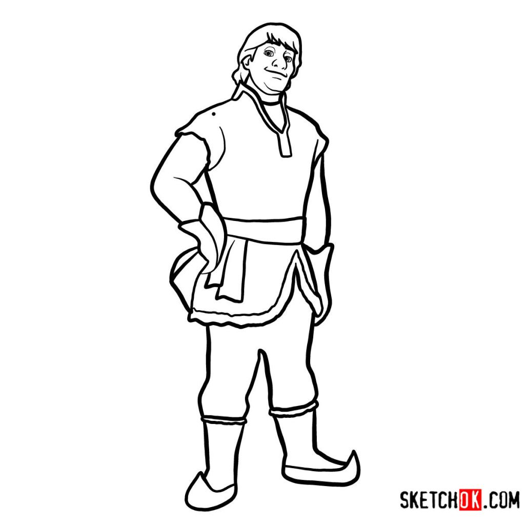 How to draw Kristoff full growth | Frozen