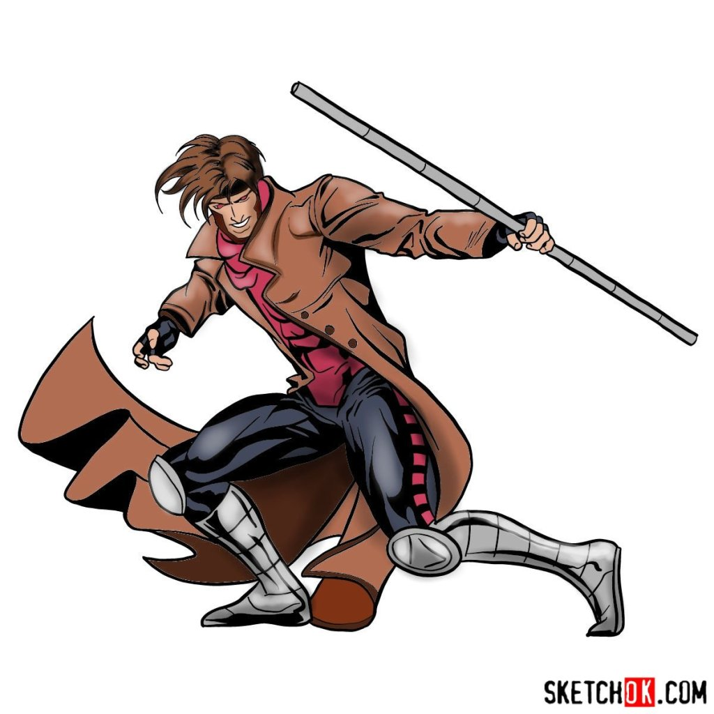 How to draw Gambit from X-Men