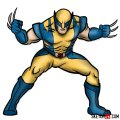 How to draw Wolverine in his superhero suit