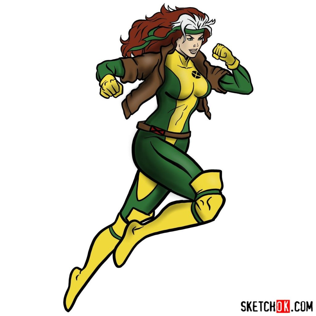 How to draw Rogue (Marvel)
