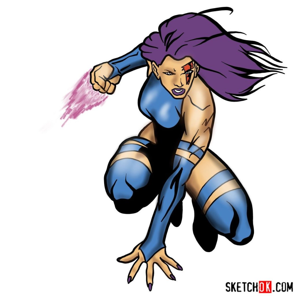 How to draw Psylocke from X-Men