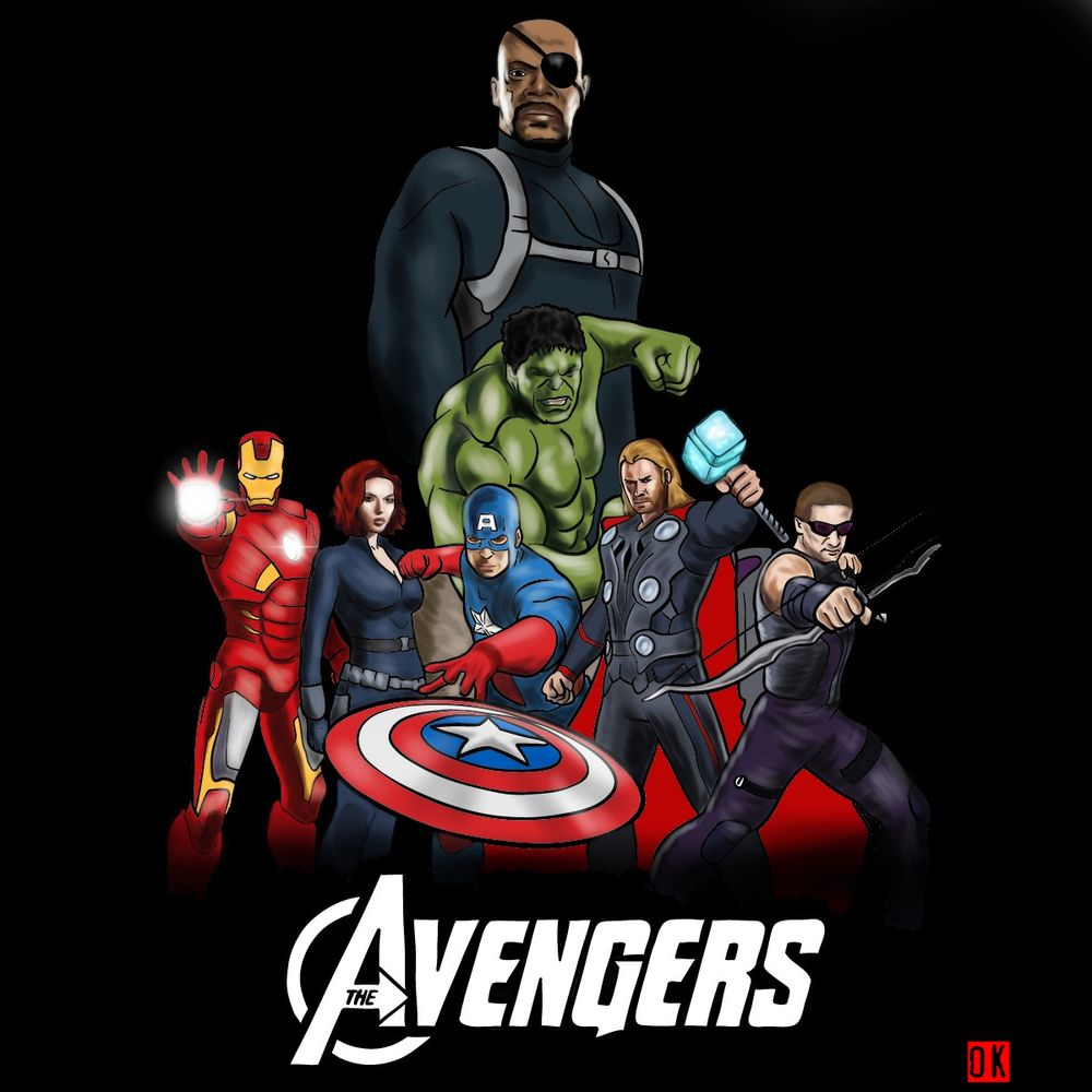 How to draw The Avengers (new)
