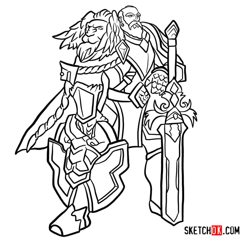 How to draw Lord Anduin Lothar