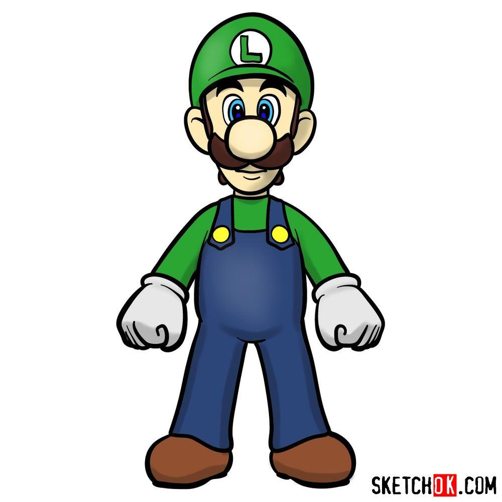 How to draw Luigi | Super Mario