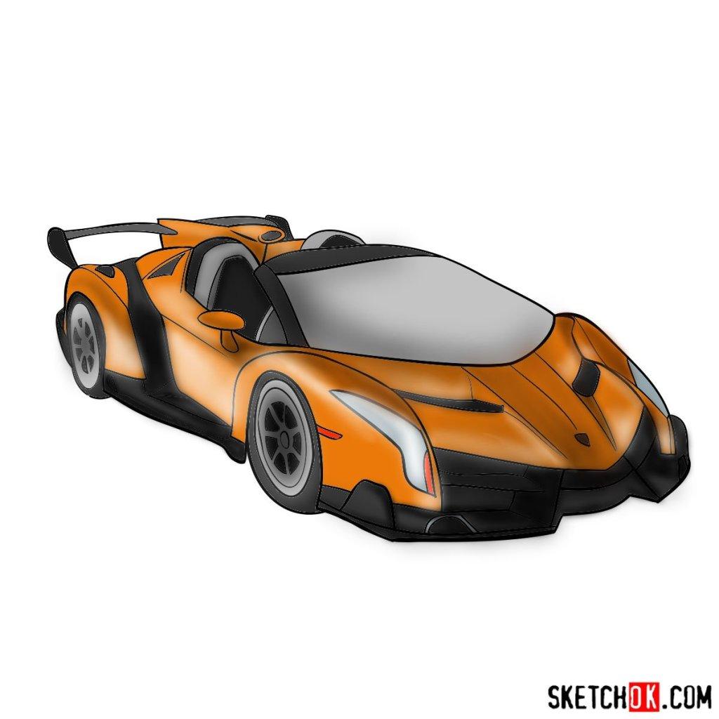 How to draw Lamborghini Veneno