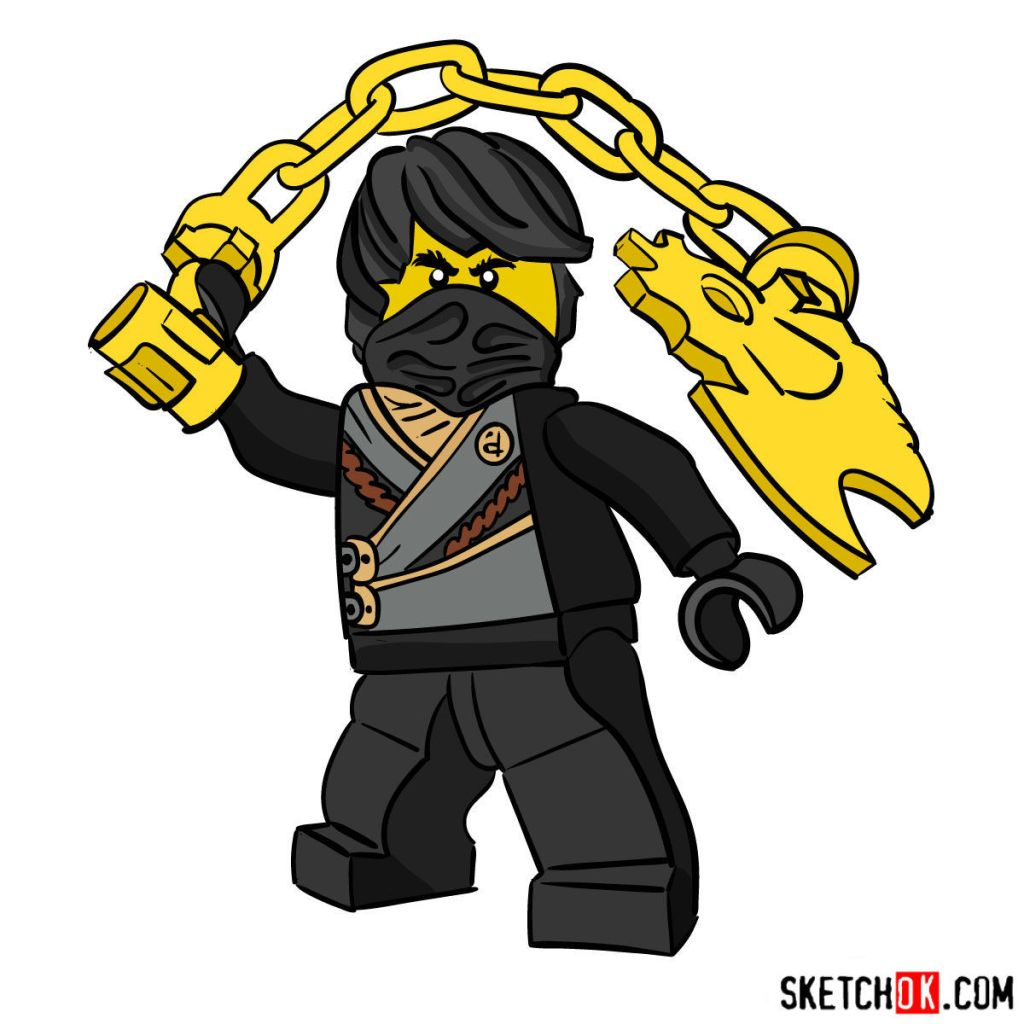 How to draw Cole Ninjago