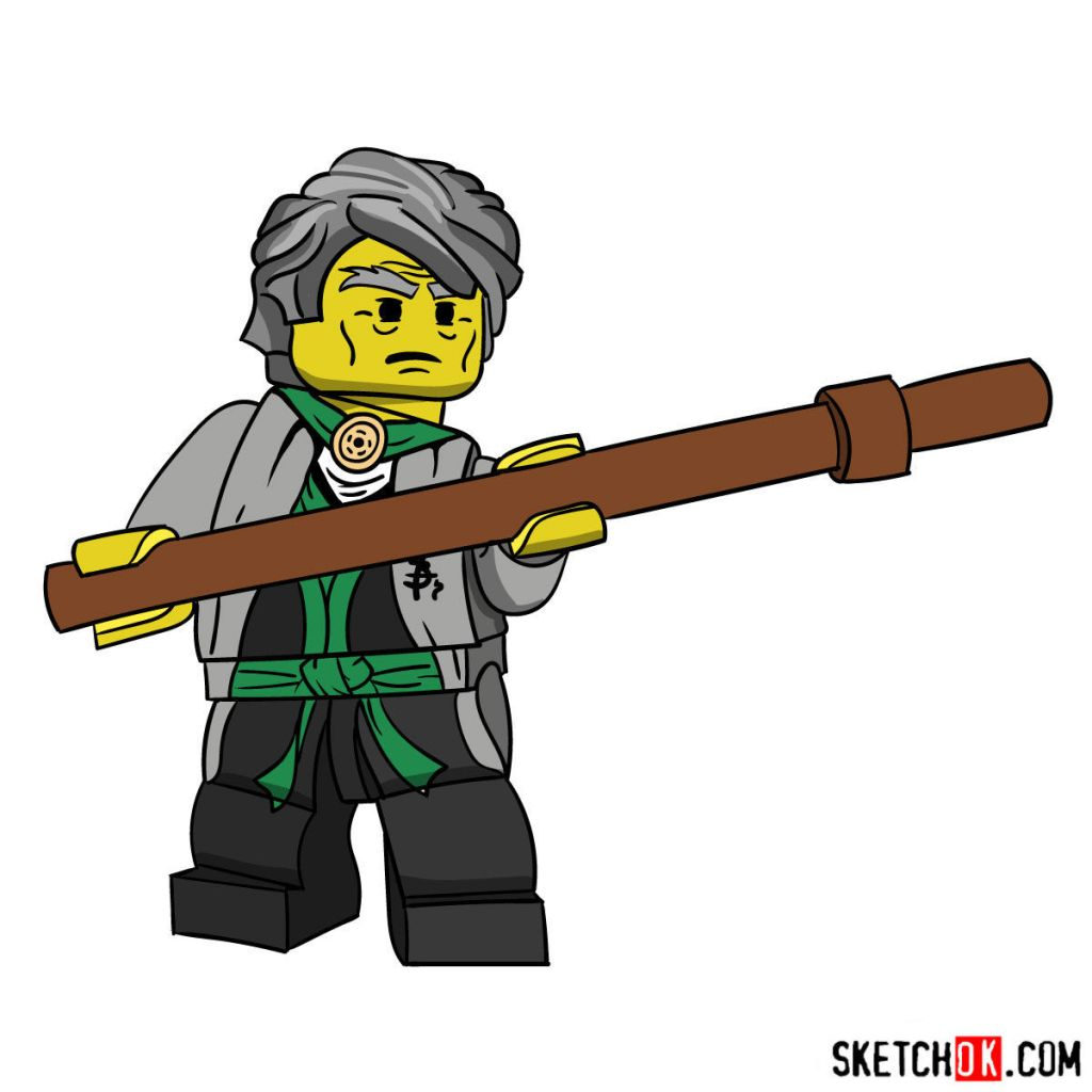 How to draw Sensei Garmadon