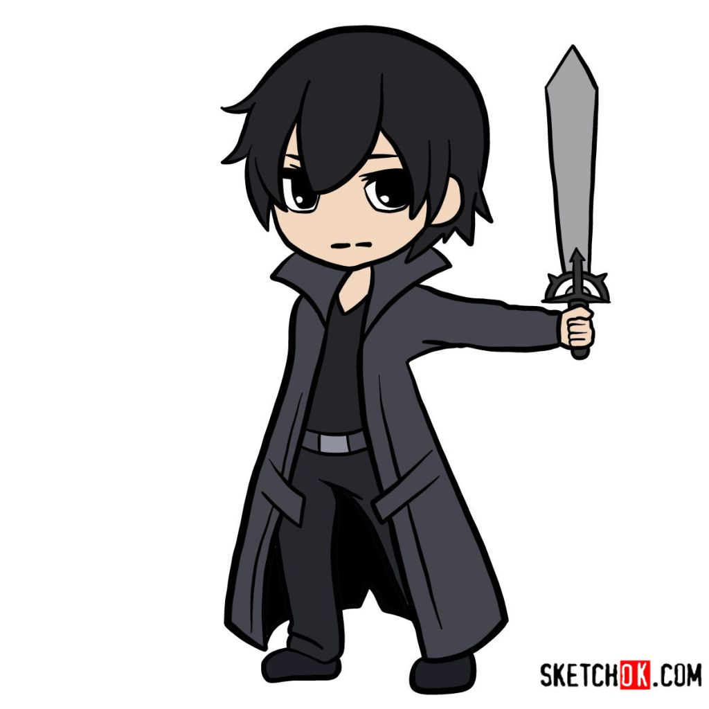 How to draw Kirito chibi | Sword art Online