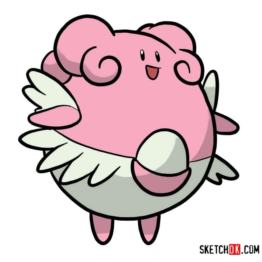 How to draw Blissey | Pokemon