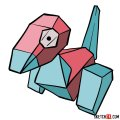 How to draw Porygon | Pokemon