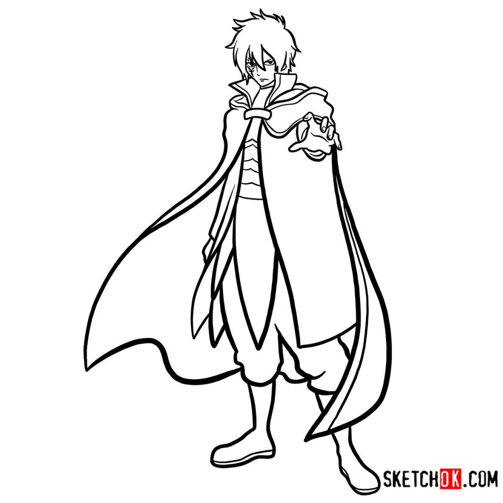 How to draw Jellal Fernandes full growth