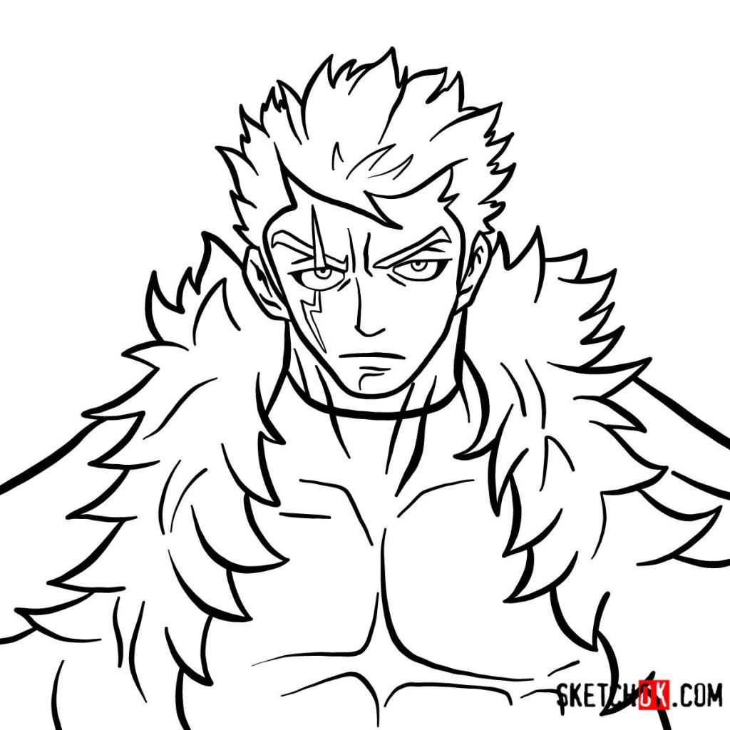 How to draw Laxus Dreyar's face | Fairy Tail