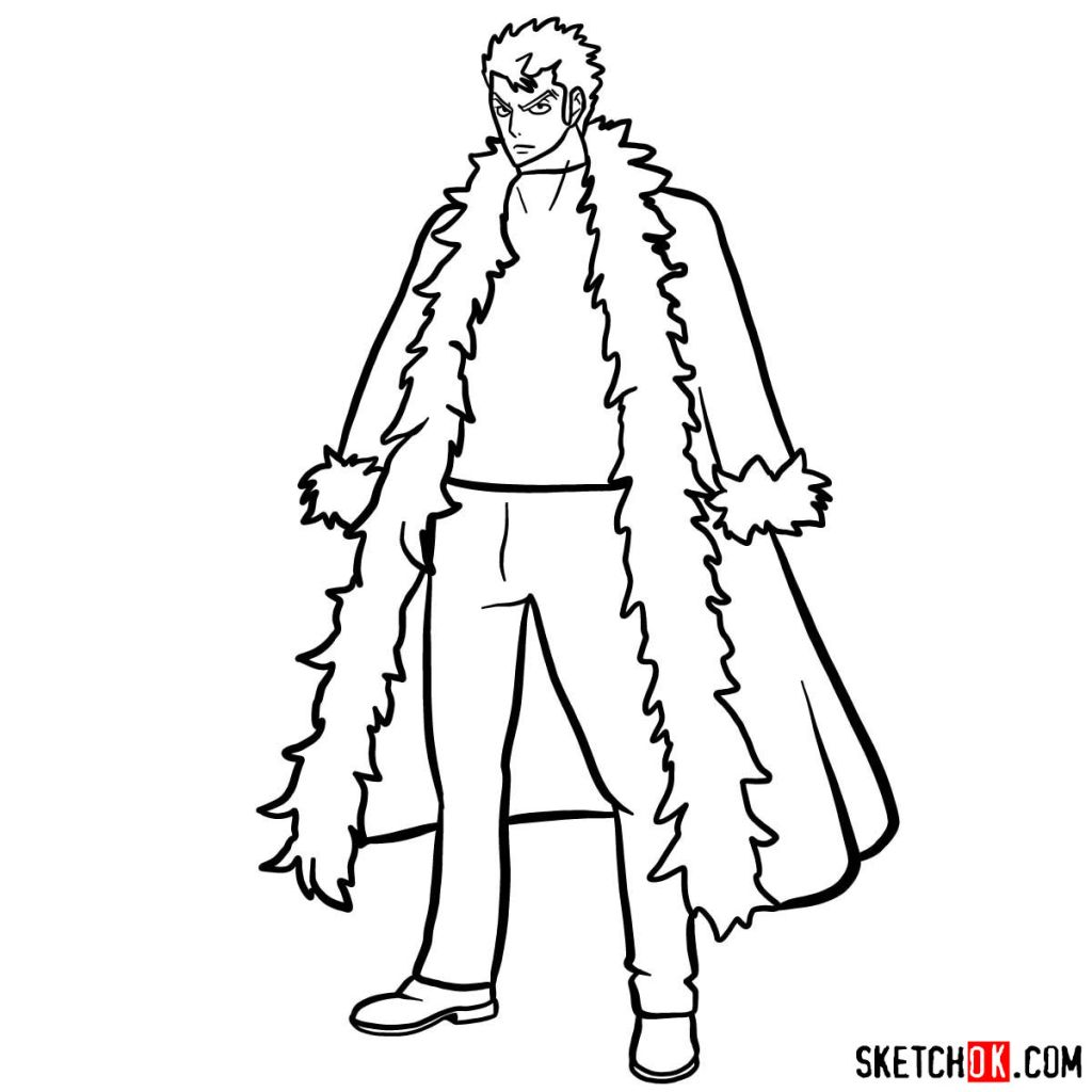 How to draw Laxus Dreyar