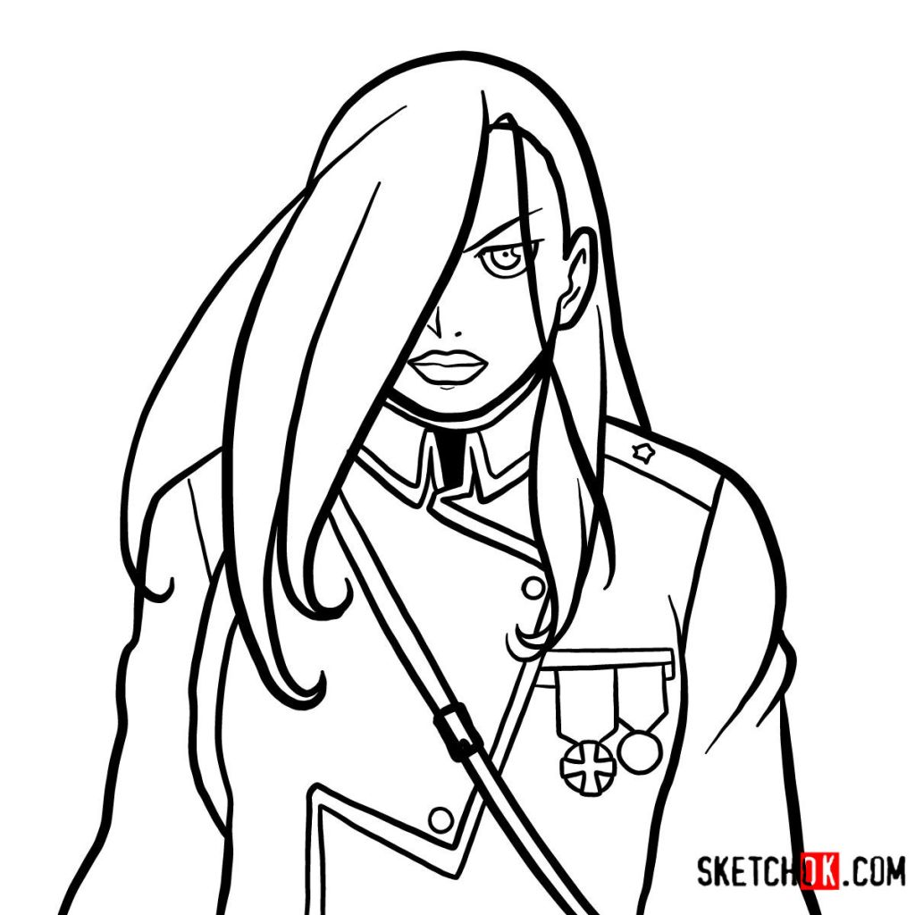 How to draw Olivier Mira Armstrong