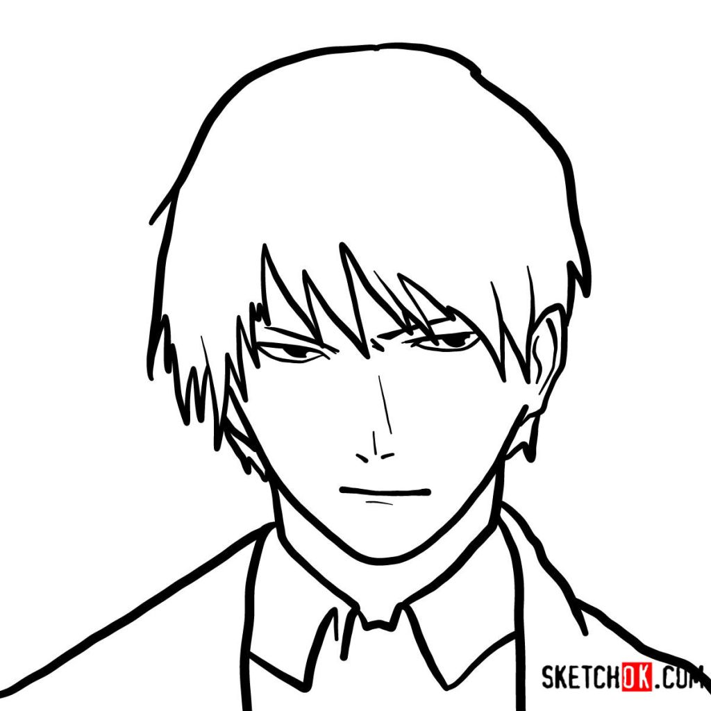 How to draw Roy Mustang's face | Fullmetal Alchemist