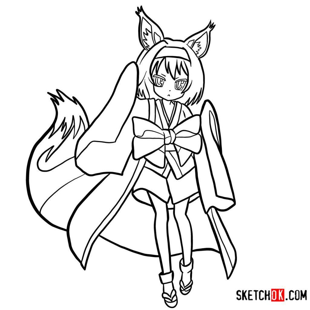 How to draw Hatsuse Izuna | No Game No Life