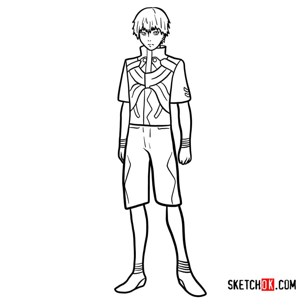 How to draw Ken Kaneki full growth | Tokyo Ghoul