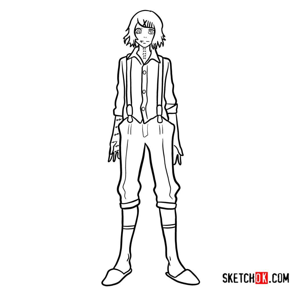 How to draw Juuzou Suzuya full growth | Tokyo Ghoul