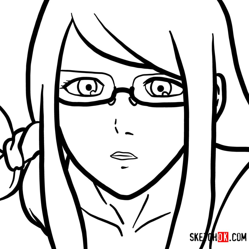 How to draw Rize Kamishiro's face