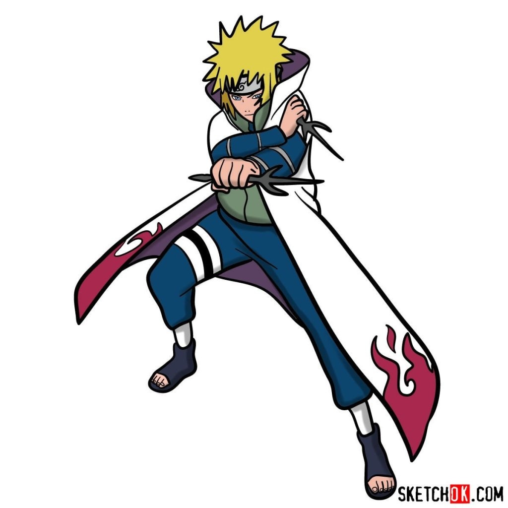 How to draw Minato Namikaze from Naruto anime