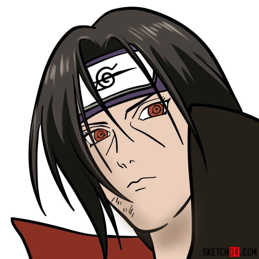 How to draw Itachi's face (Naruto anime)