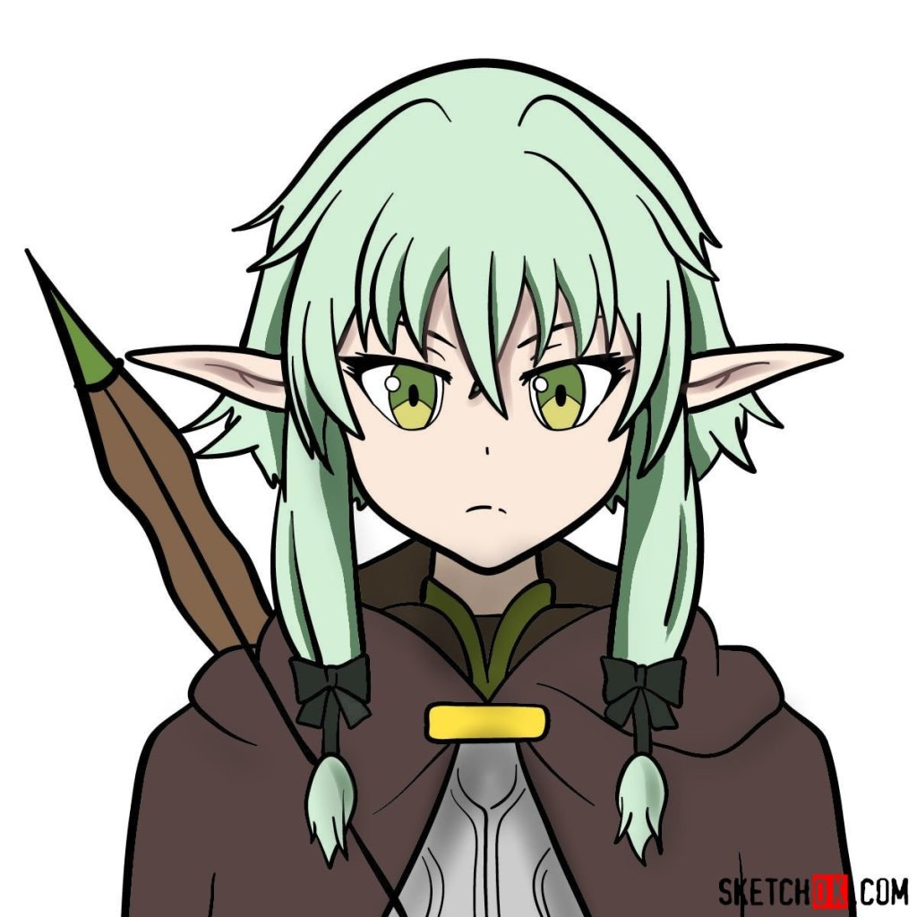 How to draw the she elv scout from Goblin Slayer anime