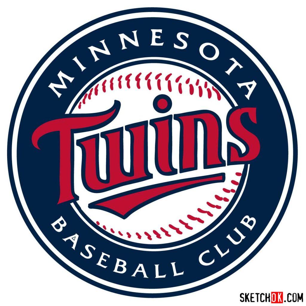 How to draw Minnesota Twins logo | MLB logos