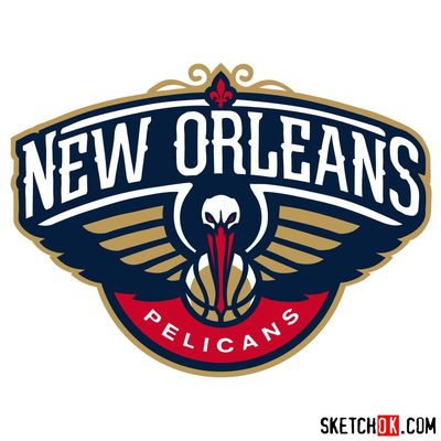 How to draw New Orleans Pelicans logo