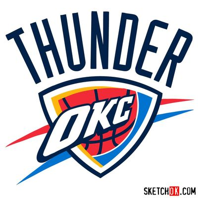 How to draw The Oklahoma City Thunder logo