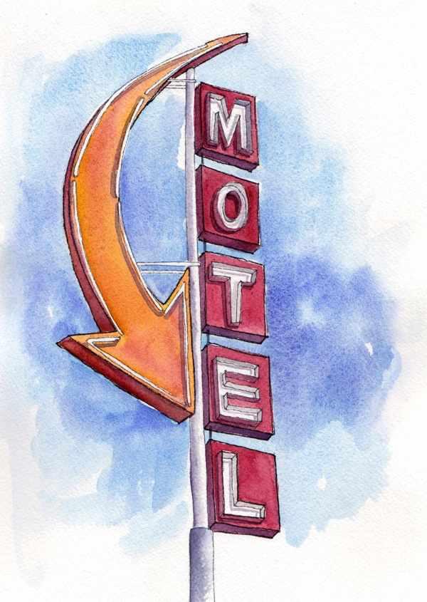 Sage n' Sand Motel Sign