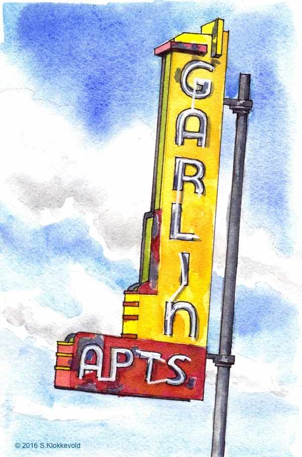 Garlin Apartments Neon Sign