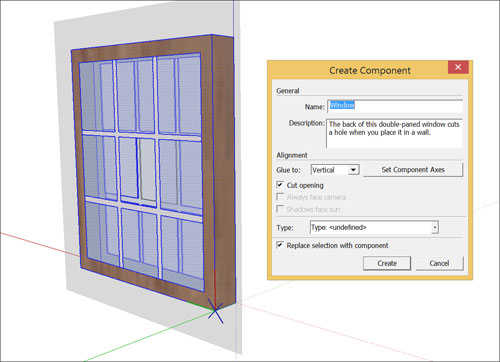 How to produce a Basic Component in Sketchup