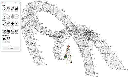 SketchUp Plugins for Structure TrussFab Made of Plastic