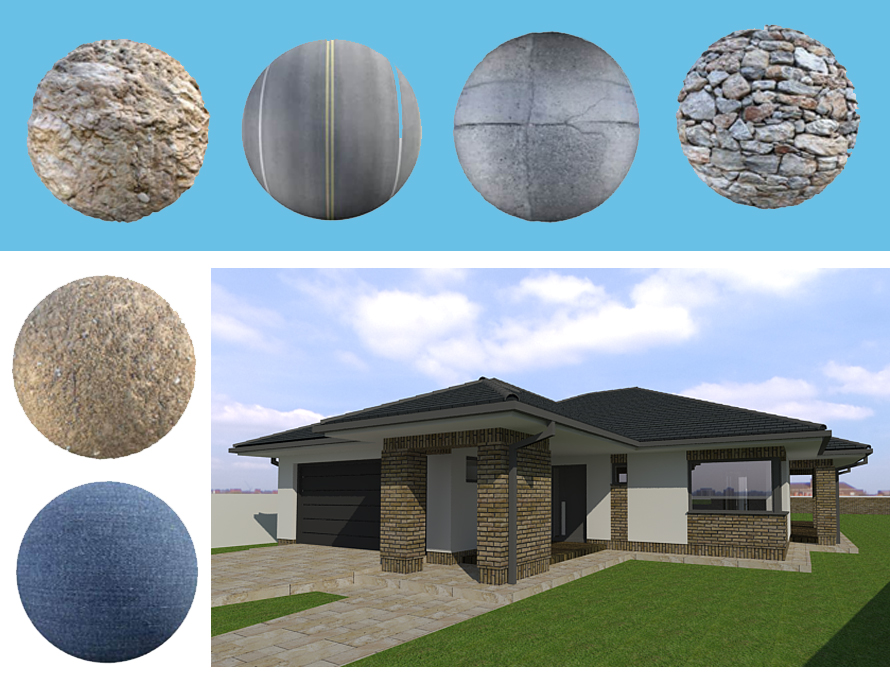 Downloading free Textures from Poliigon and using them in SketchUp/VRAY Renderings