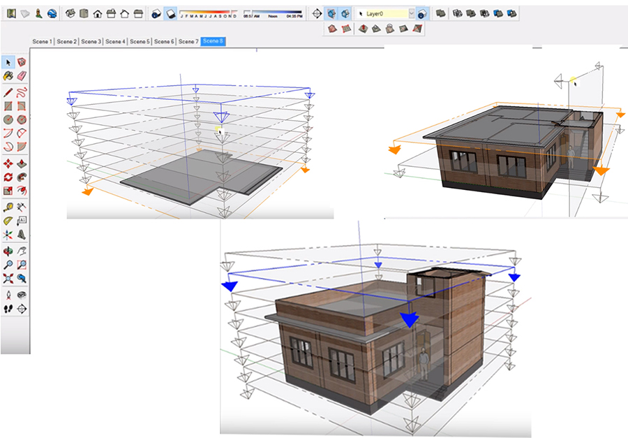 Animating Sections with Scenes in SketchUp