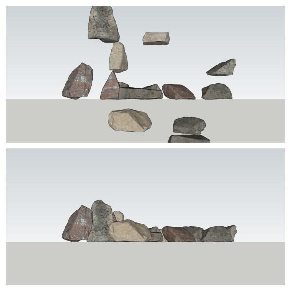 Drop stones to zero