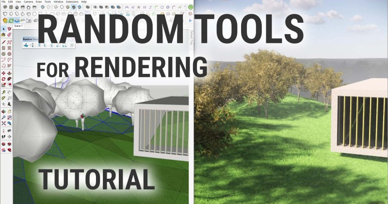 Random Tools for Rendering in SketchUp (with Enscape)